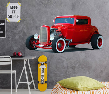 3D Red Classic Car 0020 Vehicles
