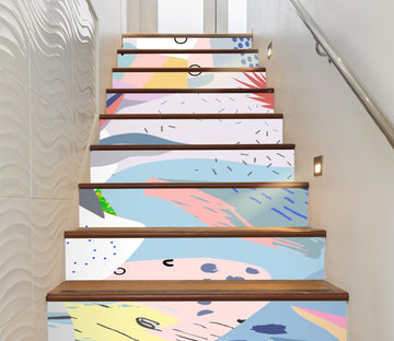3D Fresh Patterns 3912 Stair Risers Wallpaper AJ Wallpaper