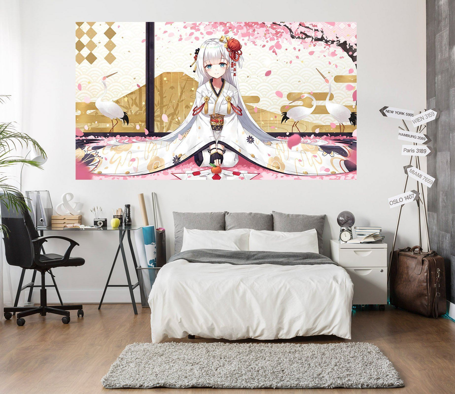 3D Beautiful Girl 664 Anime Wall Stickers Wallpaper AJ Wallpaper 2