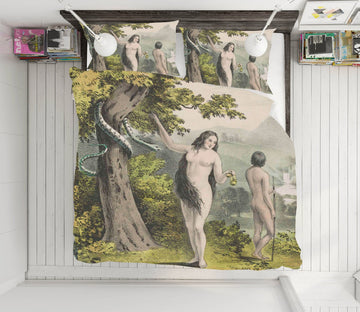 3D Adam Eve 2018 Andrea haase Bedding Bed Pillowcases Quilt Quiet Covers AJ Creativity Home