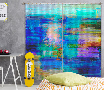 3D Tranquil Sea 209 Michael Tienhaara Curtain Curtains Drapes