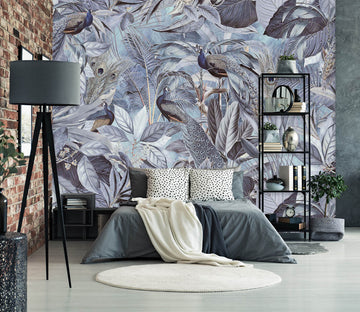 3D Night Forest 1007 Andrea haase Wall Mural Wall Murals