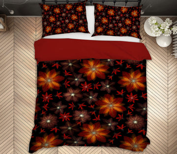 3D Red Flower 1098 Assaf Frank Bedding Bed Pillowcases Quilt