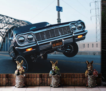 3D Bridge Car 942 Vehicle Wall Murals
