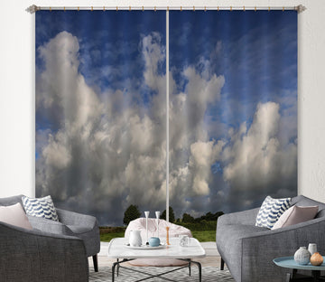3D Tree Clouds 007 Jerry LoFaro Curtain Curtains Drapes