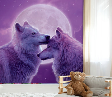 3D Loving Wolves 1427 Wall Murals Exclusive Designer Vincent