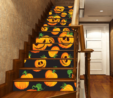 3D Fresh Pumpkins 651 Stair Risers