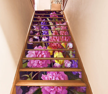 3D Flowers 7069 Stair Risers Wallpaper AJ Wallpaper