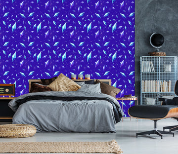 3D Blue Pattern 1405 Rose Catherine Khan Wall Mural Wall Murals