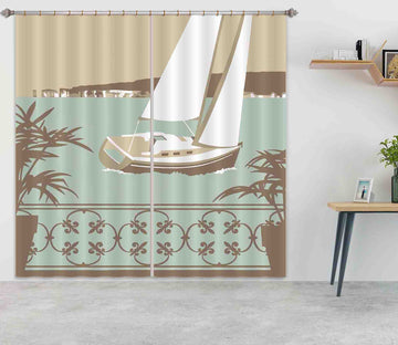 3D Sandbanks Balcony 144 Steve Read Curtain Curtains Drapes