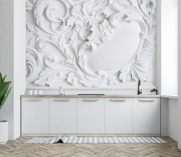 3D Carving Flowers 1423 Wall Murals