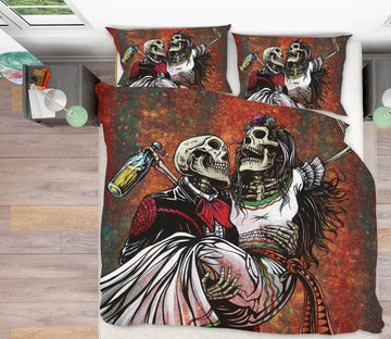3D Skull Princess 102 David Lozeau Bedding Bed Pillowcases Quilt