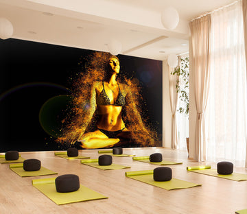 3D Yoga Girl 320 Wall Murals