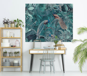 3D Forest Peacock 109 Andrea haase Wall Sticker