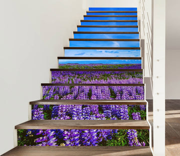 3D Lavender Of Memory 631 Stair Risers