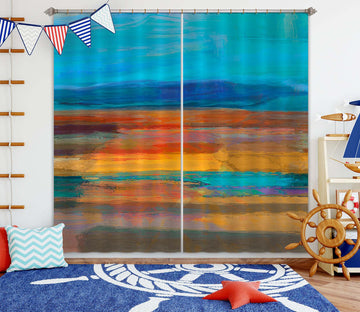 3D Color Sunset 241 Michael Tienhaara Curtain Curtains Drapes