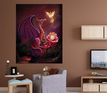 3D Flying Dragon 123 Rose Catherine Khan Wall Sticker