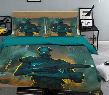 3D Robot Invasion 053 Bed Pillowcases Quilt Exclusive Designer Vincent