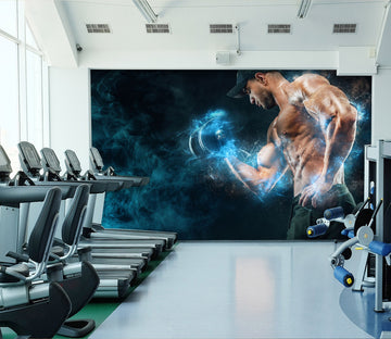 3D Boxing Fire 306 Wall Murals