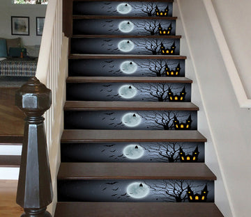 3D Silent Moonlit Night 649 Stair Risers