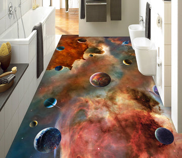 3D Colored Starry Sky WG713 Floor Mural