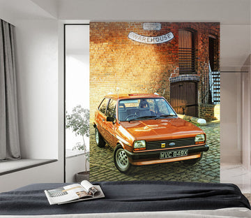 3D Brick Wall Car 432 Vehicle Wall Murals