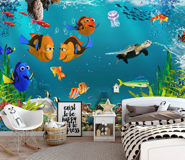 3D Clown Fish 1444 Wall Murals