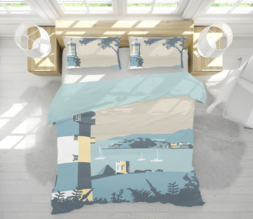 3D Plymouth 2038 Steve Read Bedding Bed Pillowcases Quilt