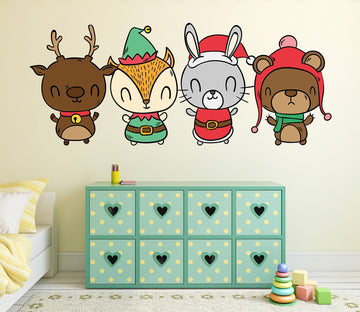 3D Fox Smiley Hat 09 Wall Stickers Wallpaper AJ Wallpaper