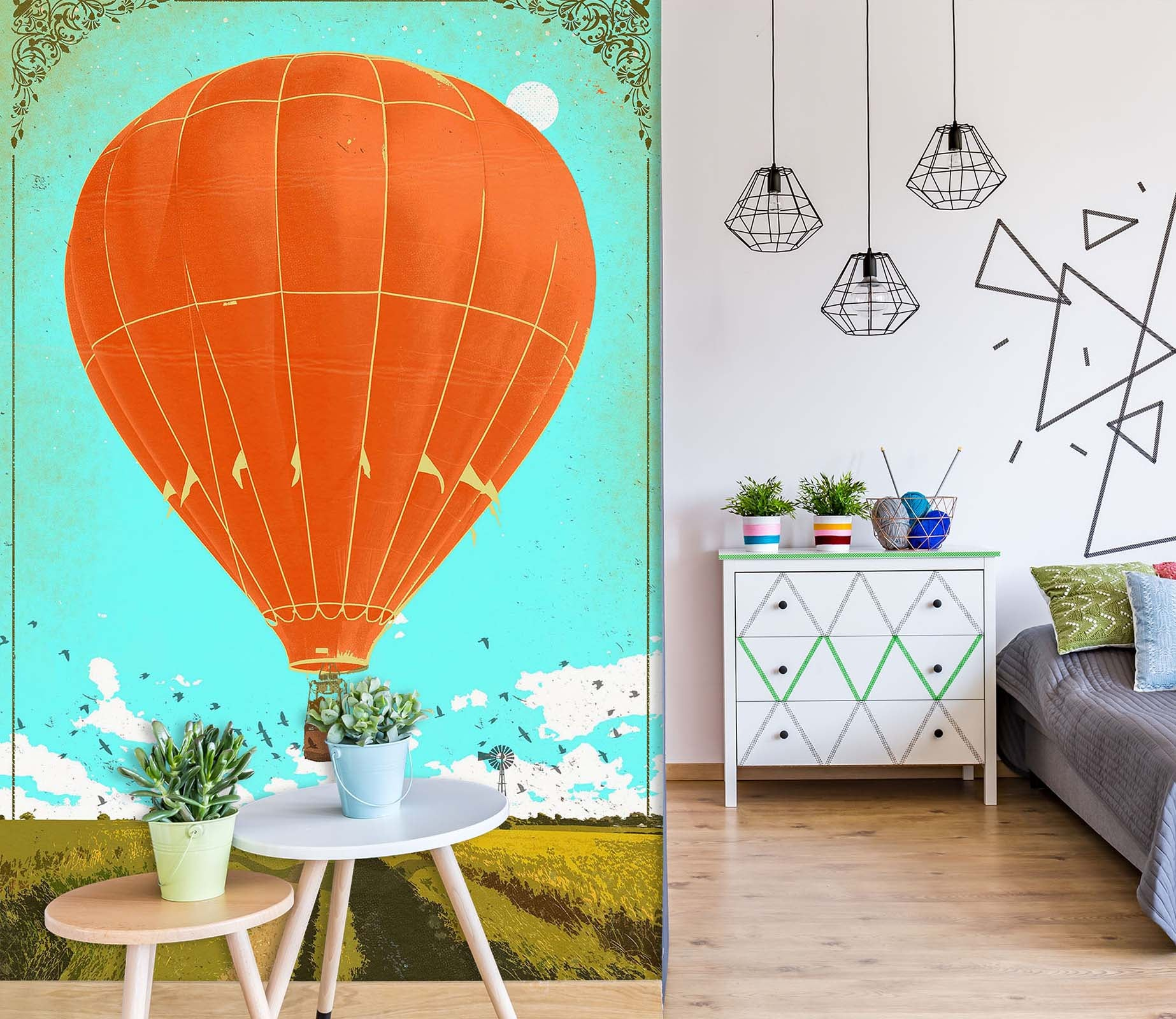 3D Hot Air Balloon 1407 Showdeer Wall Mural Wall Murals
