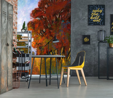 3D Oil Painting Autumn Tree 1549 Michael Tienhaara Wall Mural Wall Murals