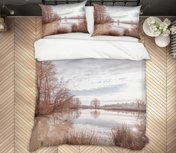 3D Lake Reflection 1079 Assaf Frank Bedding Bed Pillowcases Quilt