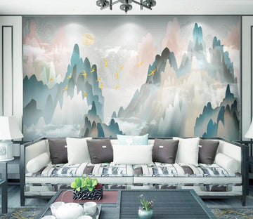 3D Green Mountain WC1805 Wall Murals
