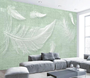 3D White Feather WC1796 Wall Murals