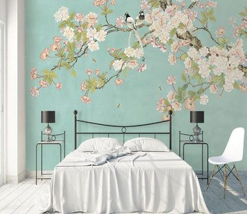 3D Flower Magpie WC1794 Wall Murals