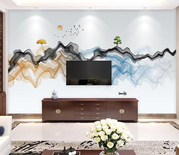 3D Big Wavy Tree WC1808 Wall Murals