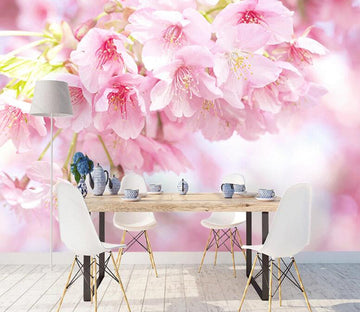 3D Pink Cherry WC1798 Wall Murals
