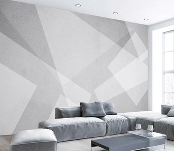 3D Gray Shape WC1792 Wall Murals