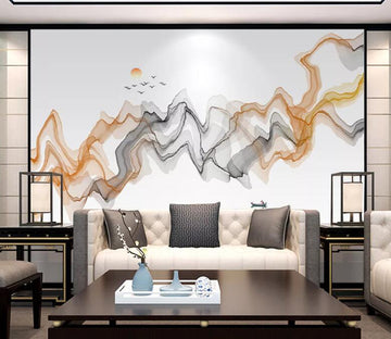 3D Wavy Shape WC1810 Wall Murals
