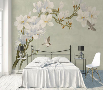3D Floral Bird WC1782 Wall Murals