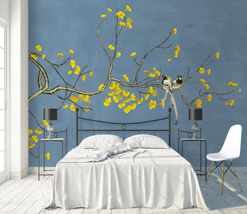 3D Yellow Flower WC1785 Wall Murals