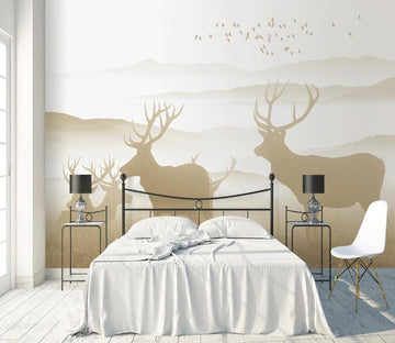 3D Shadow Deer WC1799 Wall Murals