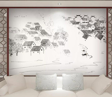 3D Roof Tile WC1710 Wall Murals