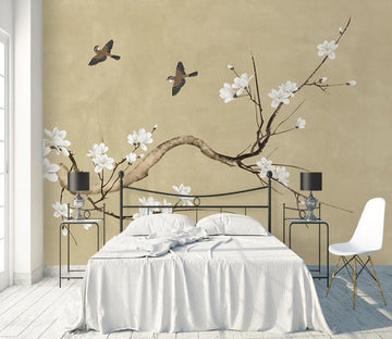 3D Curved Tree Bird WC1784 Wall Murals