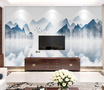 3D River Forest WC1801 Wall Murals