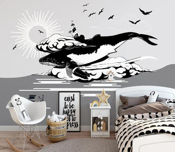 3D Painting Whale WC2642 Wall Murals