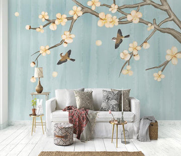 3D Magpie Fly WC1812 Wall Murals