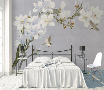 3D White Flower WC1781 Wall Murals