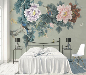 3D White Butterfly WC1790 Wall Murals