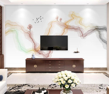 3D Abstract Bending WC1773 Wall Murals